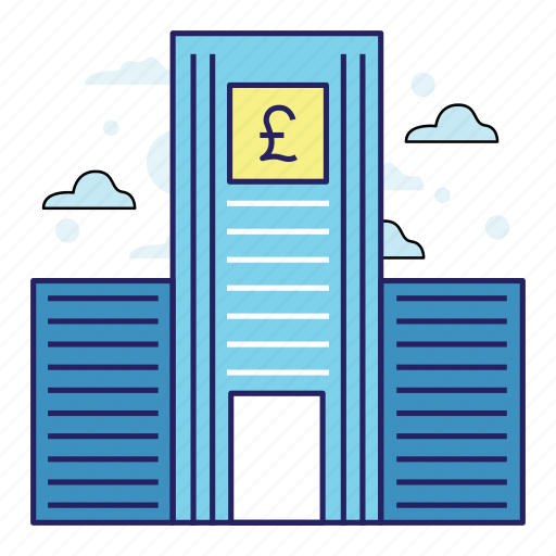 acountant, bank, banking, finance, illustration, money, poundsterling icon