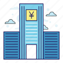 acountant, bank, banking, finance, illustration, money, yen icon