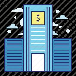 acountant, bank, banking, dollar, finance, illustration, money icon