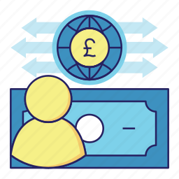 acountant, audit, banking, cash flow, finance, money, poundsterling icon