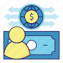 acountant, audit, banking, cash flow, dollar, finance, money icon