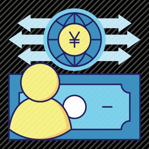 acountant, audit, banking, cash flow, finance, money, yen icon