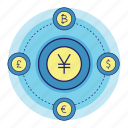 acountant, banking, converter, currency, finance, money, yen icon