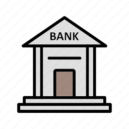 bank, banking, building, finance icon