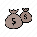 bags, banking, dollar, money, payment icon