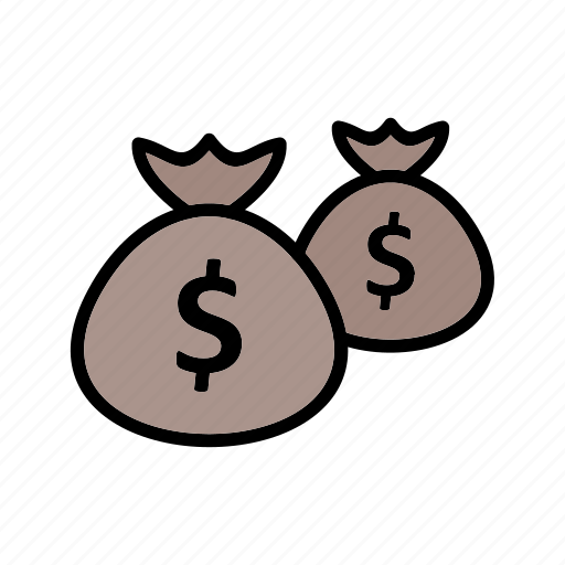 bags, cash, dollar, money icon