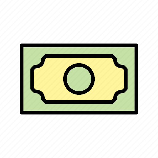 bank note, cash, money icon