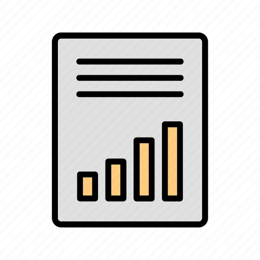 accounting, article, statistics icon