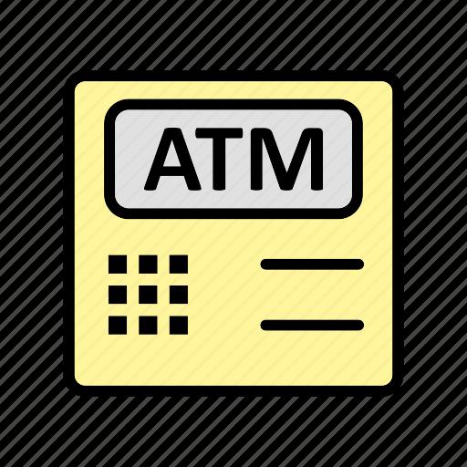 atm, atm machine, bank, cashout icon