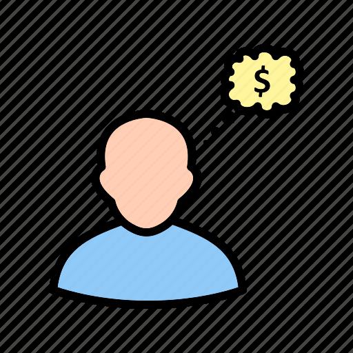 business, idea, think, thinking icon