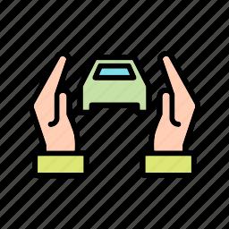 accident insurance, auto insurance, car insurance icon