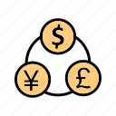 bank, banking, currency, flow, money icon