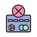 payment failure, sending failure, transaction failure icon