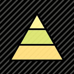 hierarchy, levels, pyramid, tiers icon
