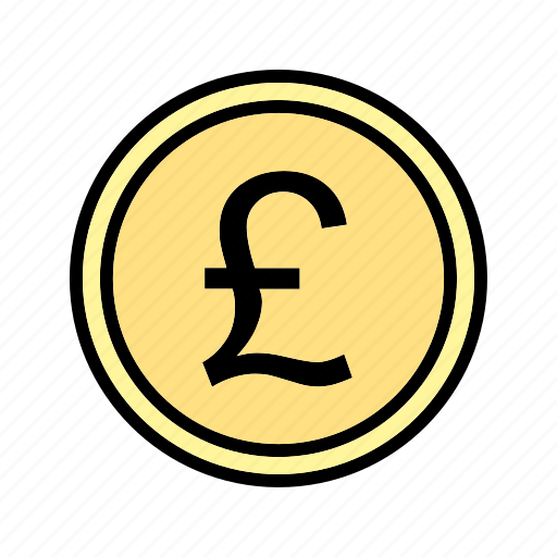 coin, currency, money, pound icon
