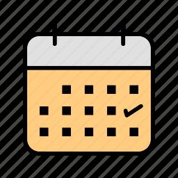 business, calendar, mark, schedule icon