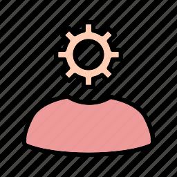 admin, setting, user icon