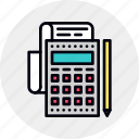 accounting, audit, banking, calculation, calculator, finance, tax icon