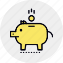 bank, economy, money, pension, piggy, save, savings icon