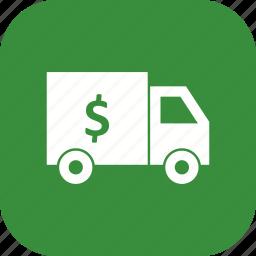 bank, security, truck, van icon