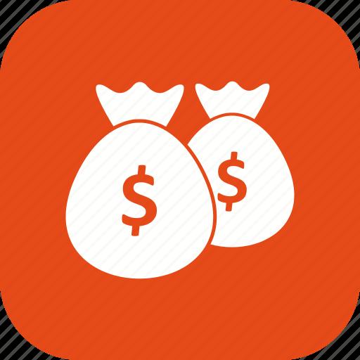 bags, banking, dollar, finance, money icon