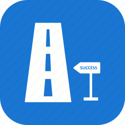 milestone, road, road to success icon