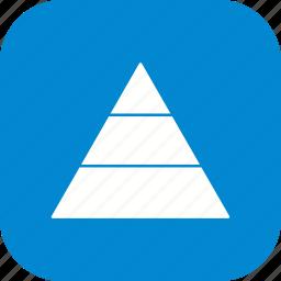 hierarchy, levels, pyramid icon