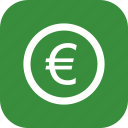 coin, euro, finance, money icon