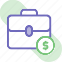 bag, banking, briefcase, business, finance, money, suitcase icon