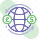 banking, business, finance, global exchange money, global finance, international transfer, money icon