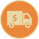 bank, security, truck, van icon