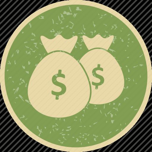 bags, dollar, money icon