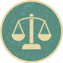 balance, justice, management, scales icon