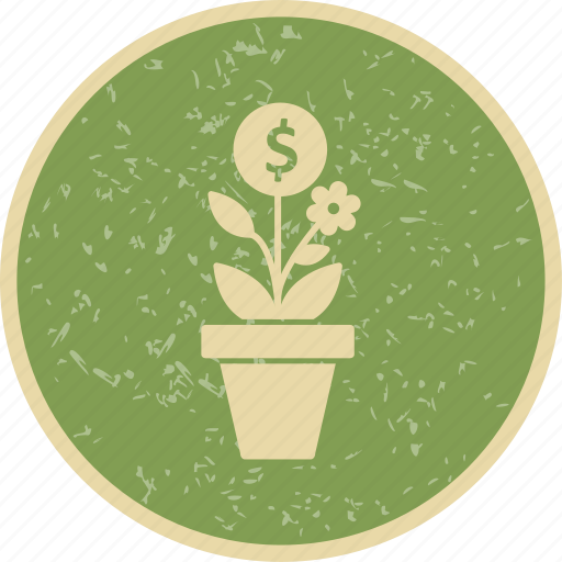 banking, business, growth, investment, plant icon