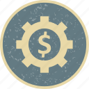 banking, business, cog, finance, wheel icon
