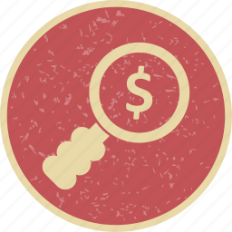 dollar, money, search icon