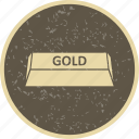 bar, brick, gold, ingot icon