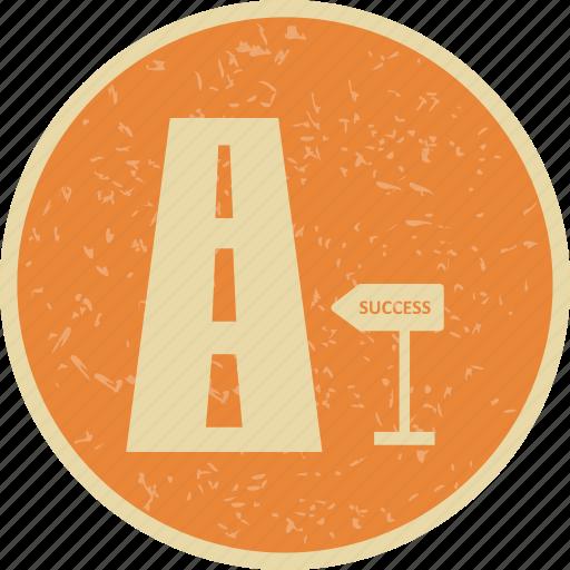 milestone, road, success, to icon