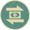 exchange, money, transaction, transfer icon
