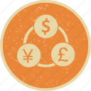 currency, flow, money, transfer icon