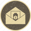 money, money envelope, money order, sending icon