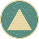 hierarchy, levels, pyramid, tiers icon