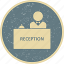 administrative, counter, desk, reception icon