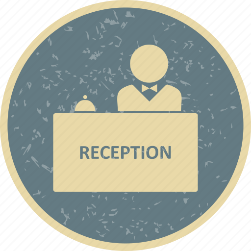banking, counter, desk, office, reception icon