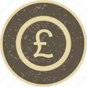 banking, coin, finance, money, pound icon