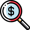 glass, magnifying, magnifying glass, search icon icon