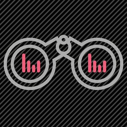 analytics, finance, market, market forecast, trend, vision icon