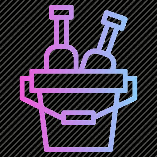 bucket, drink, food, restaurant icon