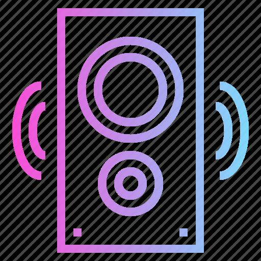 audio, multimedia, music, peaker icon