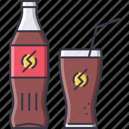 bar, club, glass, party, soda, straw icon